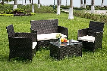 Leisure Zone® Juego de muebles de jardín de ratán para patio ...