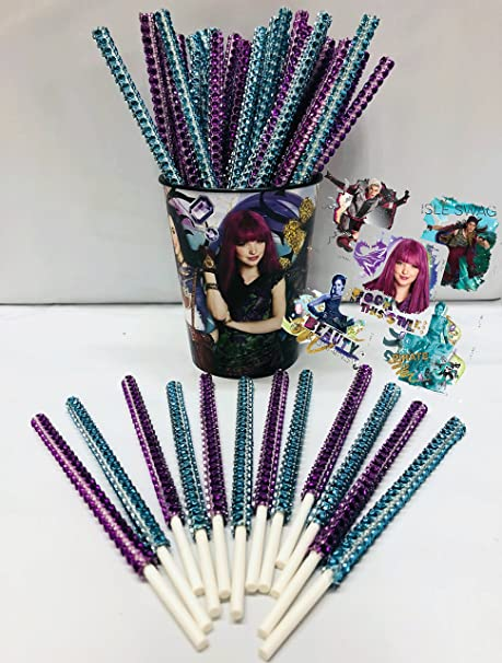 Amazon.com: Disney Descendants inspirado fiesta Bling palos ...