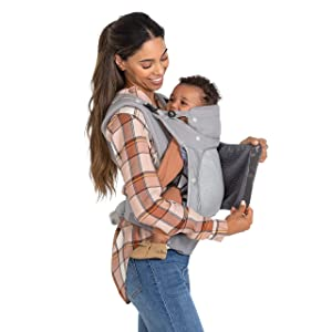 Infantino in Season 5 Layer Ergonomic Baby Carrier with Large Air Venting Mesh Panel, 4 Carrying Positions & Built-in Weather Covers