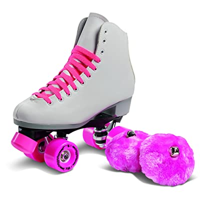 Sure-Grip Malibu Roller Skates White and Pink Limited Edition : Sports & Outdoors