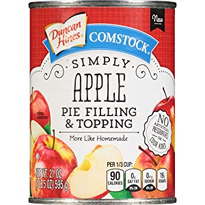 Comstock Simply Pie Filling & Topping, Apple, 21 Ounce (Pack of 8)