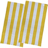 Espalma Copa Cabana Stripe Cotton Beach Towel, Over Size Luxury 30 Inch Wide x 60