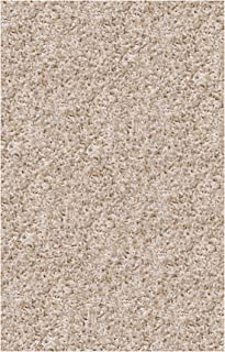 product image for Super Shag Area Rug Shaw Uptown Girl Collection Chic Ivory 4 Feet x 6 Feet.