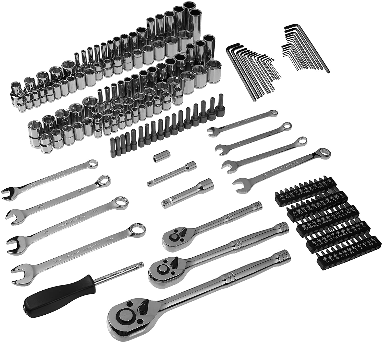 Basics Mechanics Socket Set 201-Piece