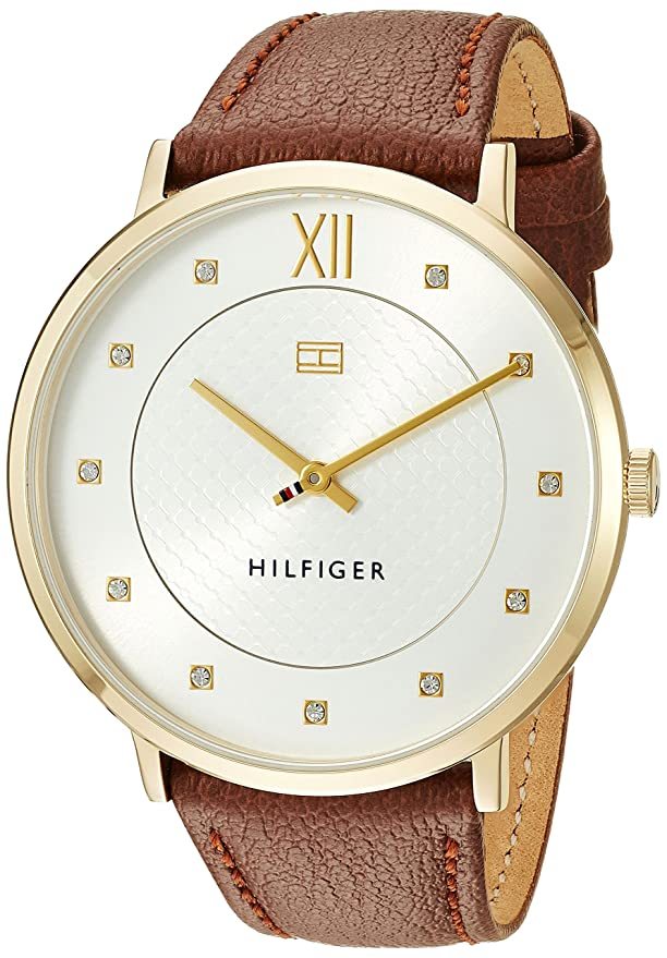 74a8cc31800 Tommy Hilfiger Women s  Sophisticated Sport  Gold and Leather Watch Red  1781809
