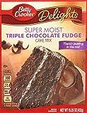 Betty Crocker Super Moist Triple Chocolate Fudge Cake Mix, 15.25 oz, 2 pk