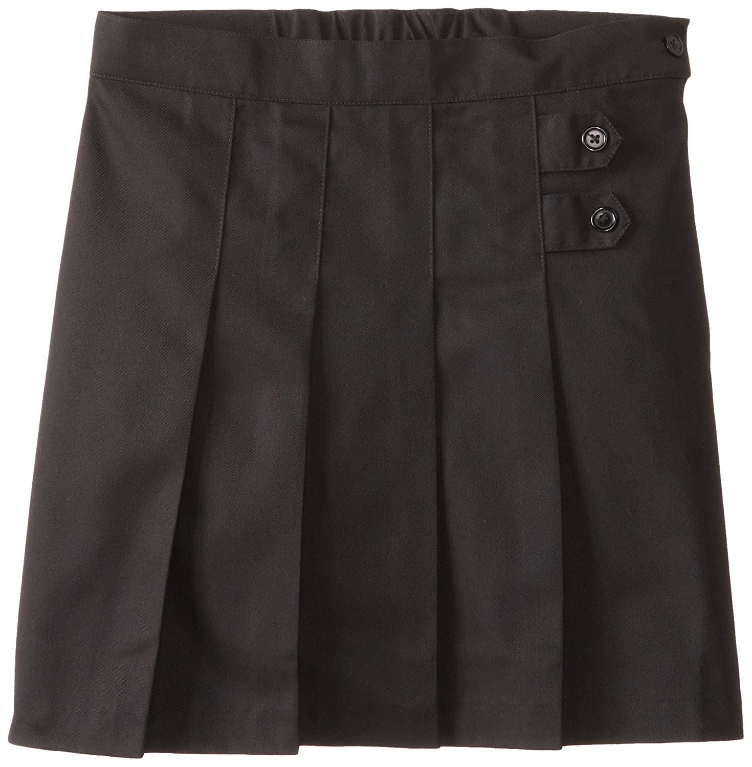 Black Twill Scooter School Uniform Skirt Plus Size Girls 18.5 55123-BLK