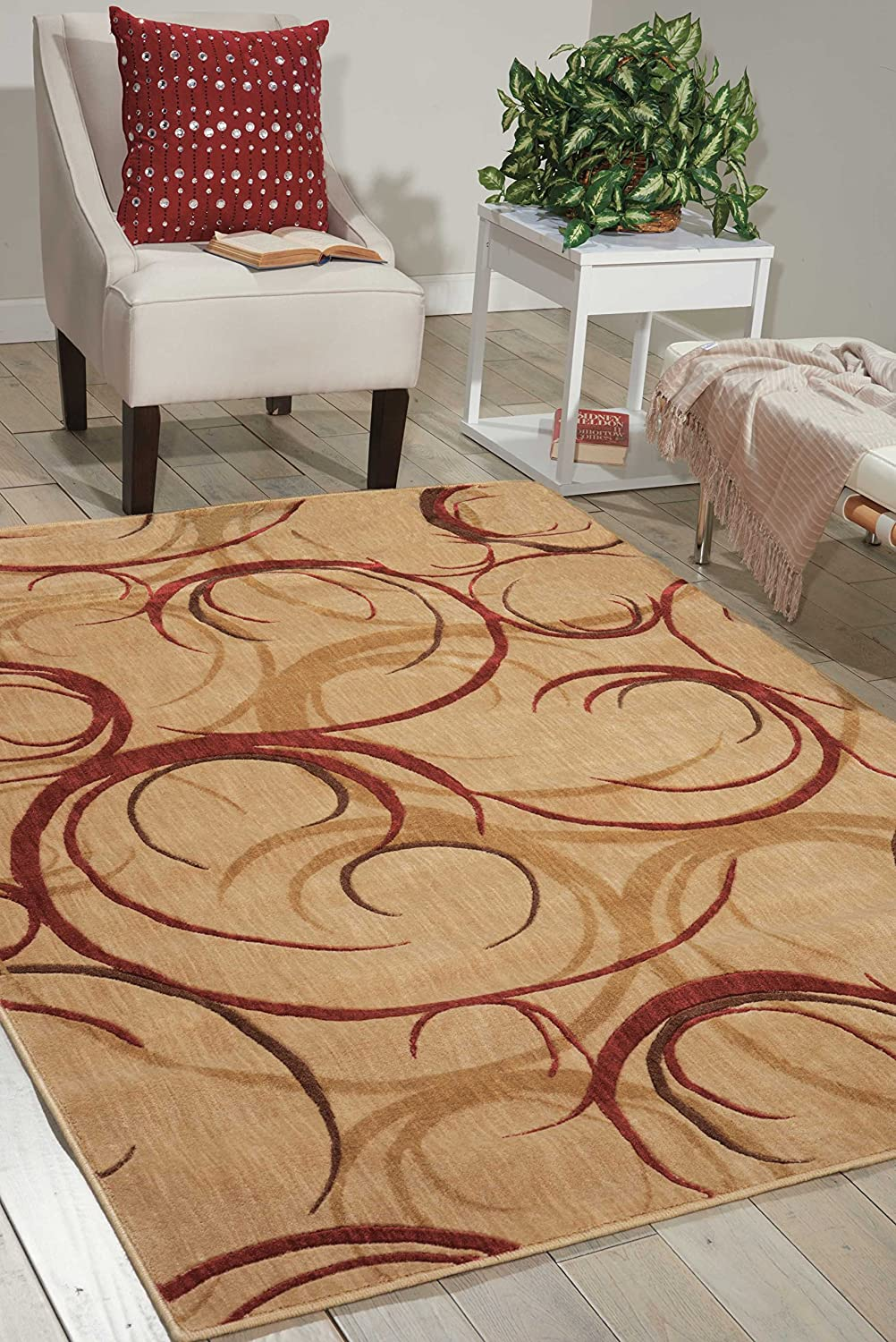 Nourison Somerset Beige Rectangle Area 9-Inches Rug 1 by 100% quality warranty! 7-Feet Sale item