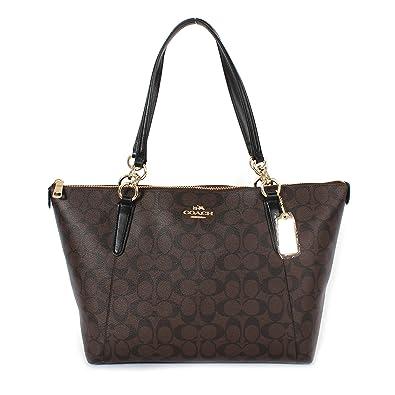 Amazon.com: Coach Ava Tote in Signature Brown/Black/Gold F58318: Shoes