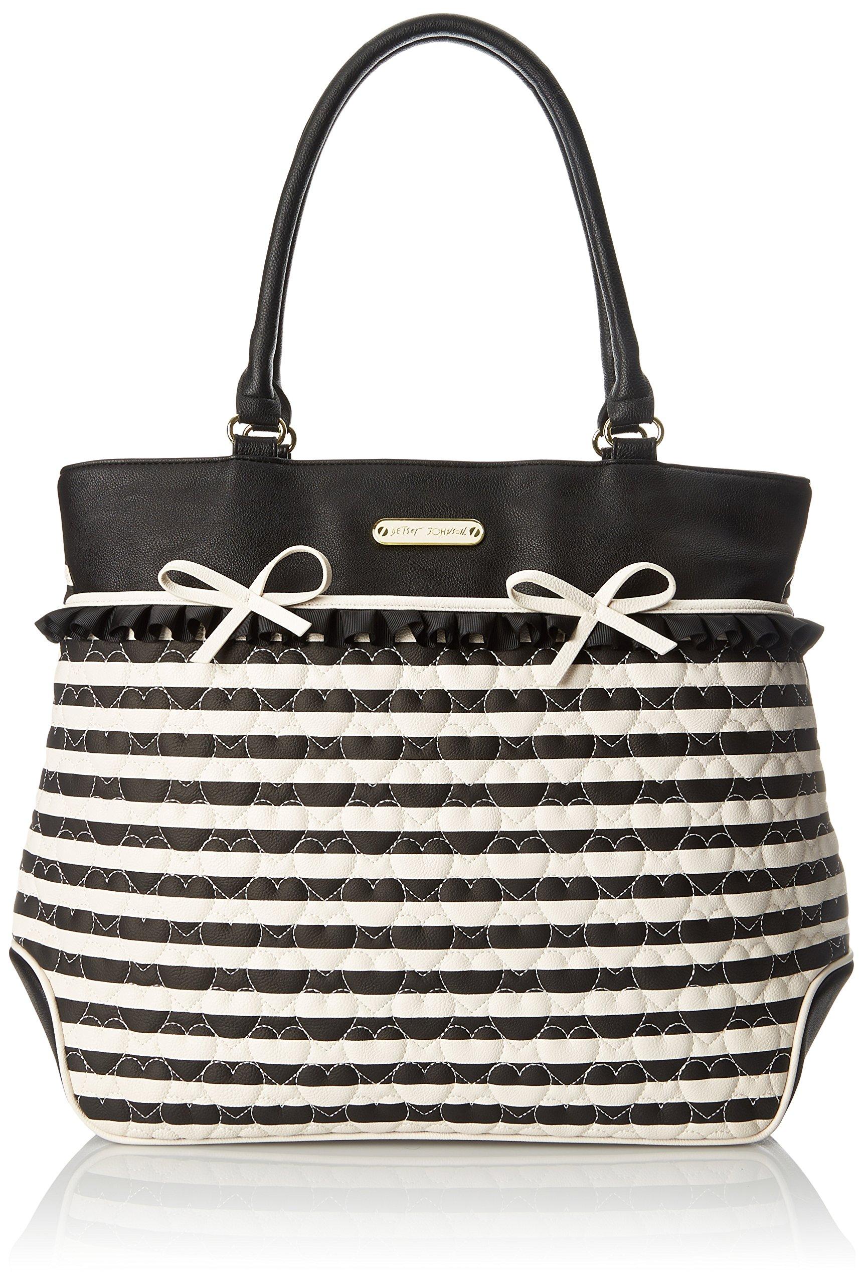 Betsey Johnson Moms The Word Tote Shoulder Bag, Black, One Size