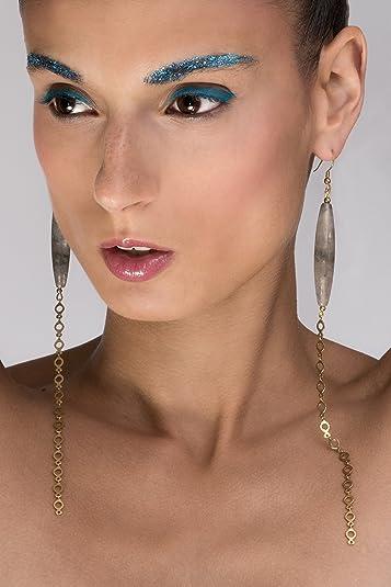 divers styles 100% de satisfaction magasin officiel AME DE LUMIERE Boucle d'oreille Extra longue en Quartz ...
