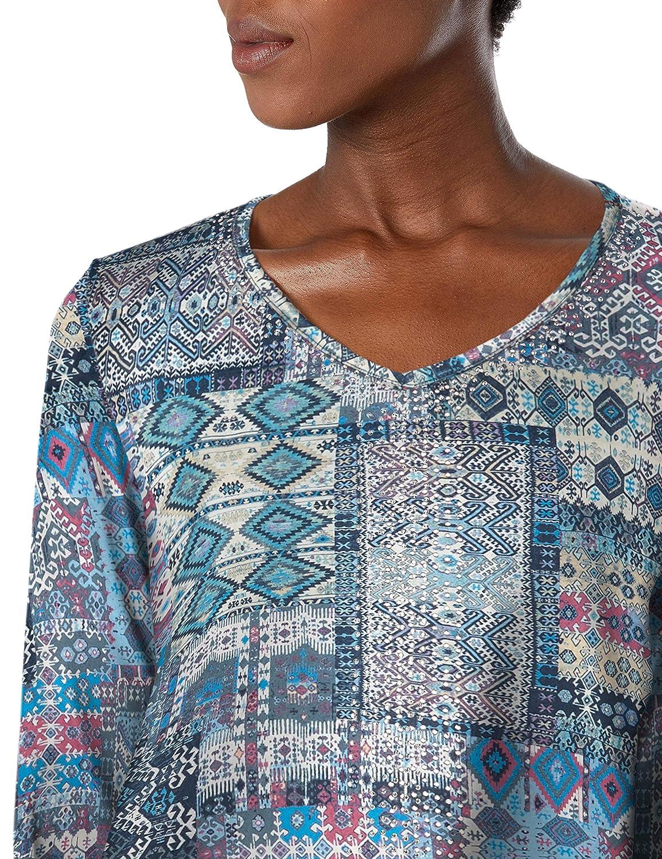 Gloria Vanderbilt Womens Teegan 3//4 Sleeve Top