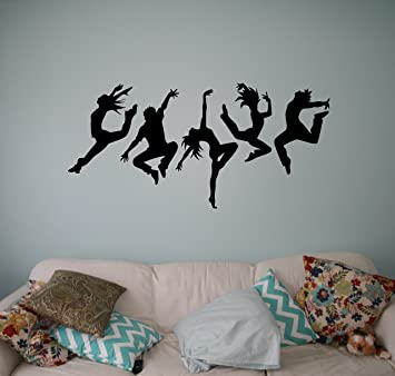 Acrobatics Dance Wall Decal Dancing Party Vinyl Sticker Home Wall - Vinyl wall decals home party