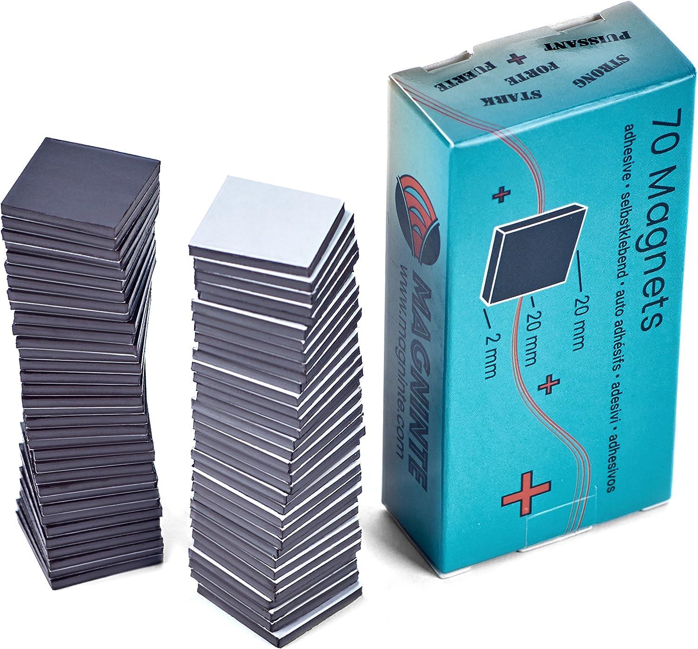 Imanes autoadhesivo Stark – 70 placa magnética (2 x 2 cm x 2 mm) – para pesado Photos, cartón, Laminate, protectores especialmente fiable, fuerte resistencia – Takkis placa magnética (Negro): Amazon.es: Oficina y papelería