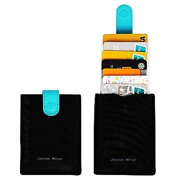 Tarjetero RFID Cartera para Tarjetas de Crédito Pequeño Hombres Mujer (Negro): Amazon.es: Equipaje