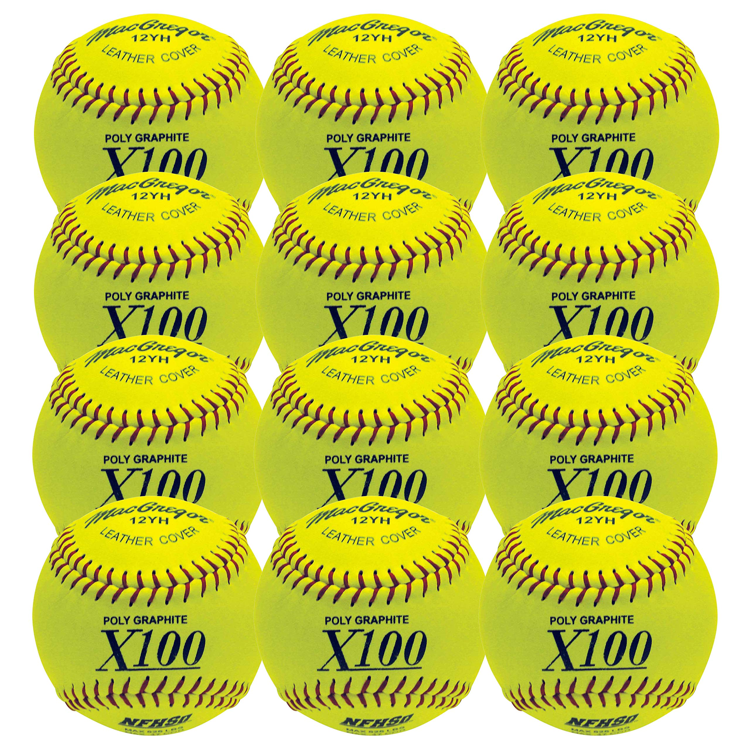 MacGregor NFHS Fast Pitch Softball, 12-inch (One Dozen) by MACGREGOR
