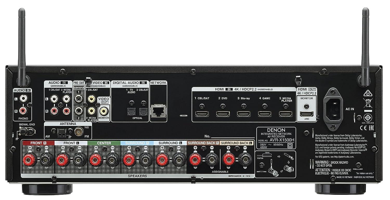Denon AVR-X1500H- Sintoamplificatore 7.2
