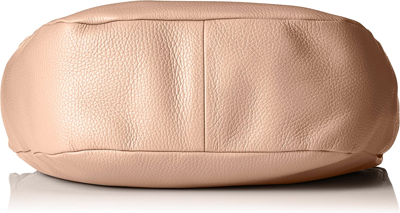 Mandarina Duck Damen Mellow Leather Tracolla Schultertasche, 11x28x30 cm Pink (Dusty Rose)