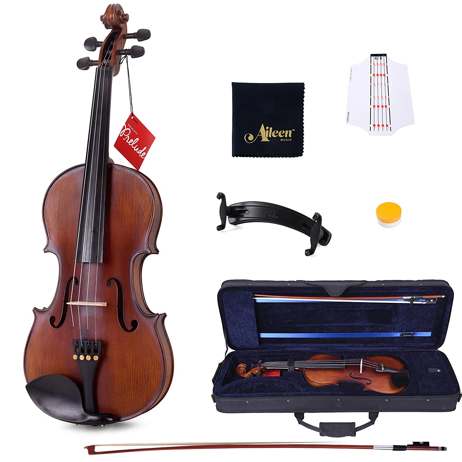 Amazon.com: Aileen Violin with D'Addario Strings, Case, Rosin, Shoulder  Rest, Cleaning Cloth and Finger Sticker: Musical Instruments