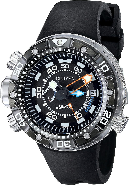Citizen Eco-Drive Men's BN2029-01E Promaster Aqualand Depth Meter Analog Display Black Watch