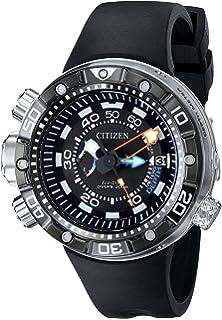 Citizen Eco-Drive Mens BN2029-01E Promaster Aqualand Depth Meter Analog Display Black Watch