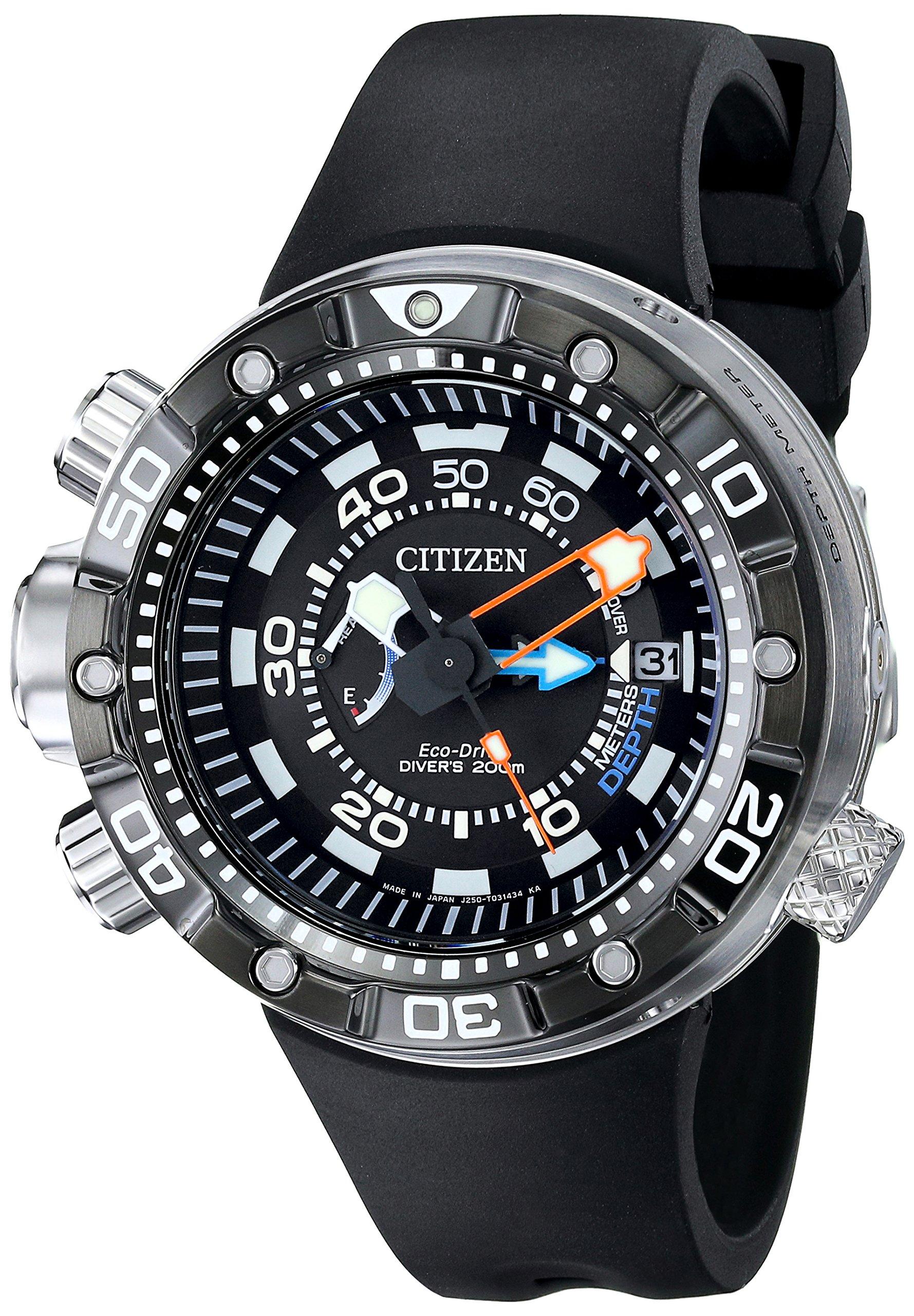Eco-Drive Men's BN2029-01E Promaster Aqualand Depth Meter Analog Display Black Watch