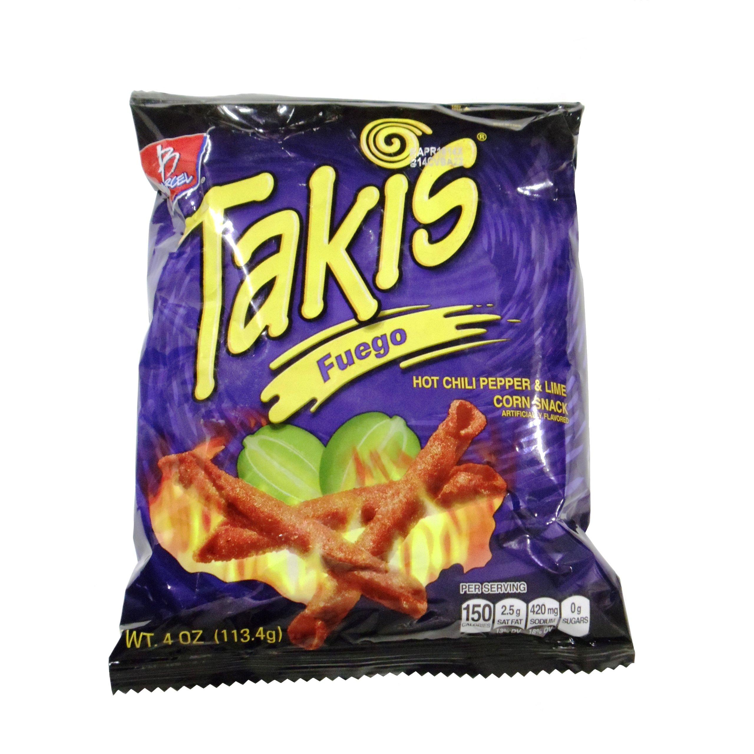 Takis Fuego Box Of 46 Bags 1 Oz Each Hot Chili Pepper