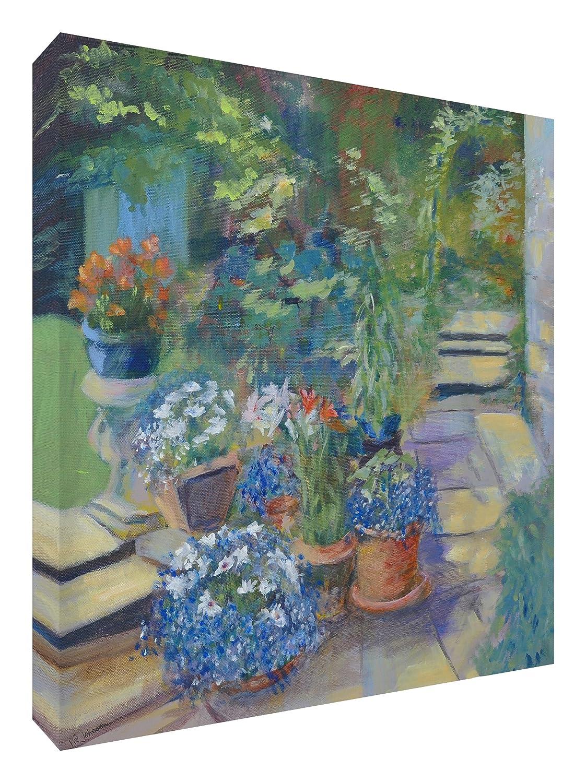 Feel Good Art Leinwand leuchtenden Farben gehören des Künstlers Val Johnson Garten 96x 96x 4cm Größe XXL