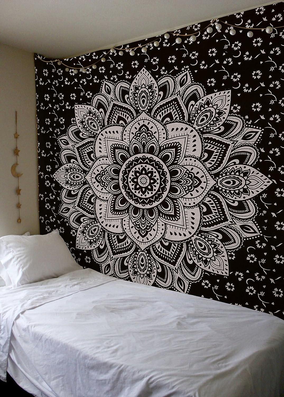 Amazon.com: Madhu International Mandala Gold Tapestries (Queen ...