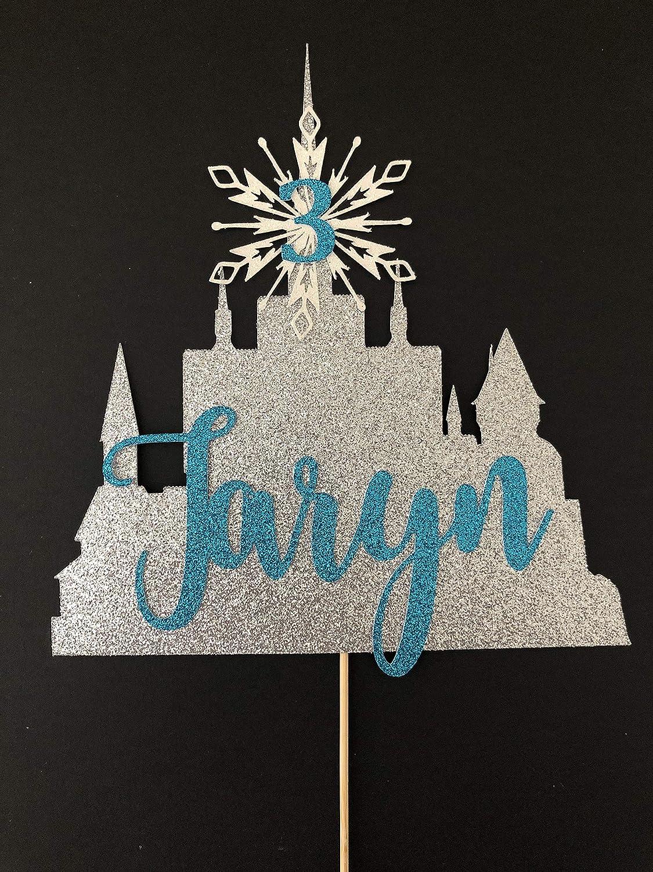Decoración para tarta de cumpleaños con castillo de Frozen ...