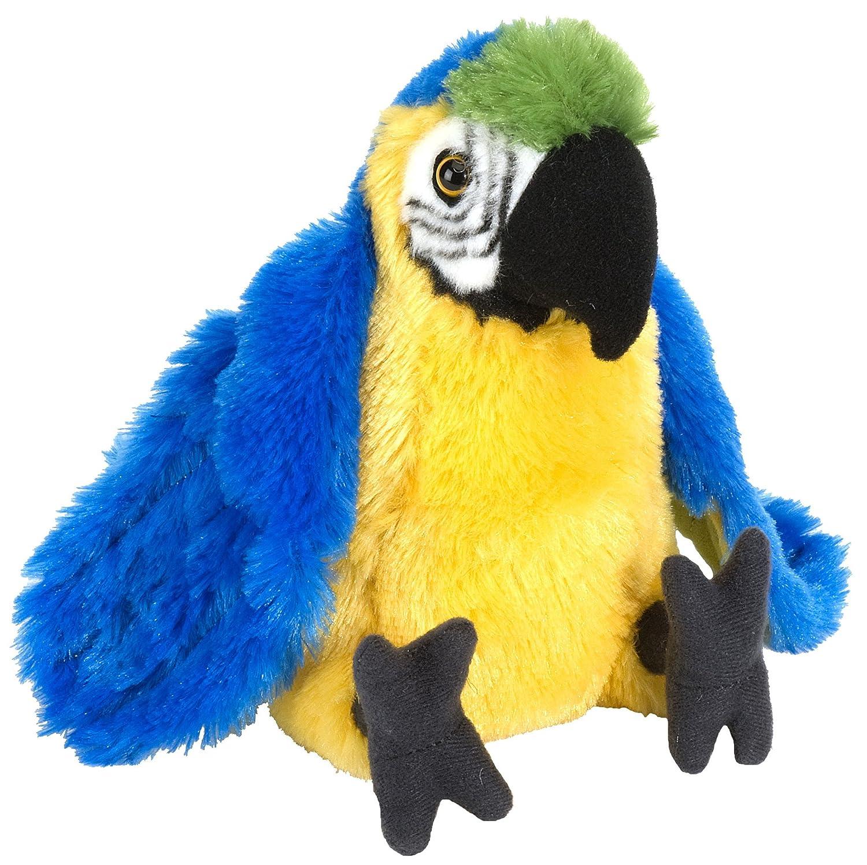 Cuddlekins Plüschtier blauer Gelbbrustara Papagei, Kuscheltier ...