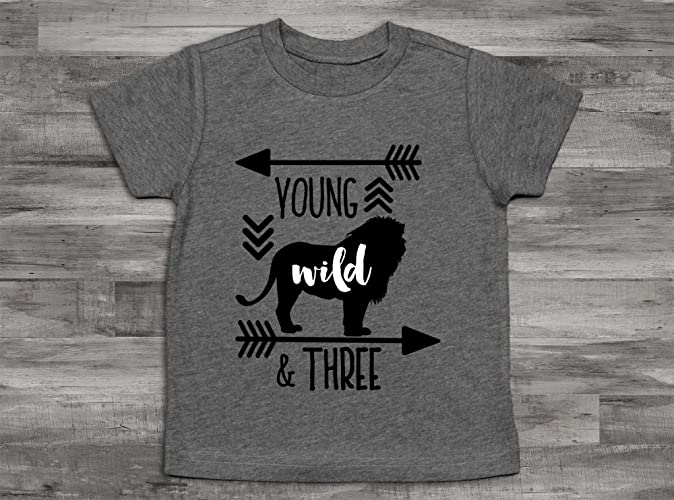 Amazon Deer Young Wild And Three Birthday Boy Shirt 3rd Bday ShirtThird Shirt3rd