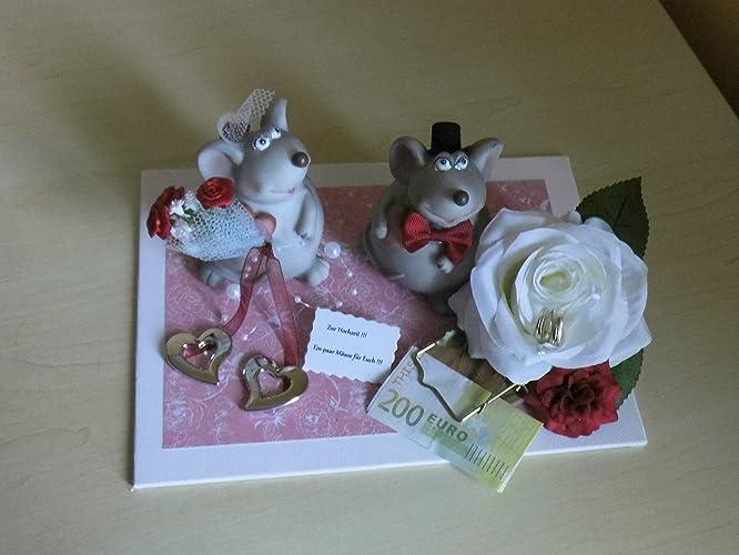 Hochzeit Mause Geldgeschenk Brautpaar Amazon De Handmade