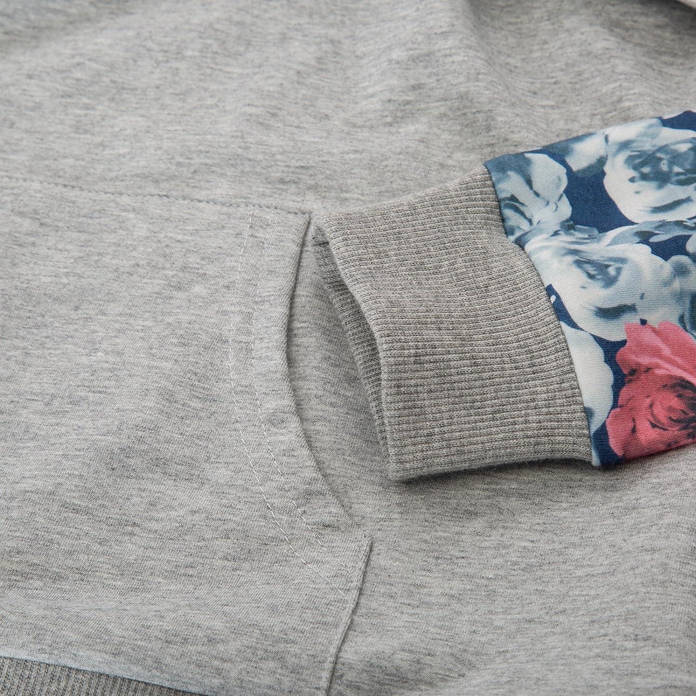 Maacie Damen still-top-Sweatshirt Langarm Patchwork Pullover Tops