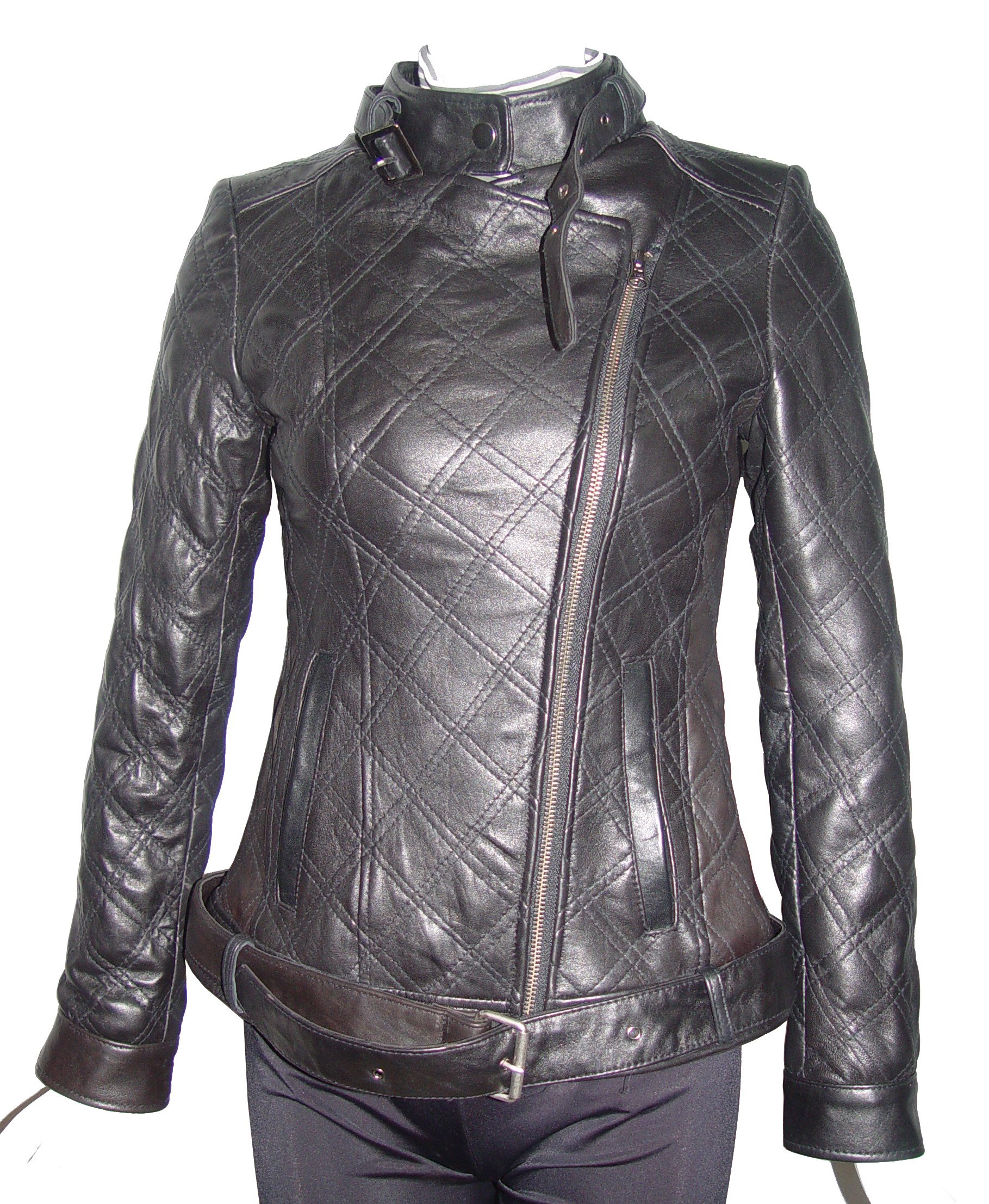 Nettailor Women PETITE & ALL SIZE Fashion 4123 Leather Motorcycle Jacket