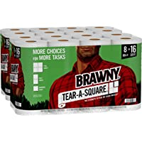 Deals on 16 Double Rolls Brawny Tear-A-Square Paper Towels