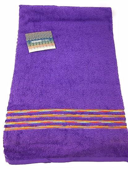 Toalla baño de esponja Missoni Art. Astra Col. T33 Violeta cm. 100 x