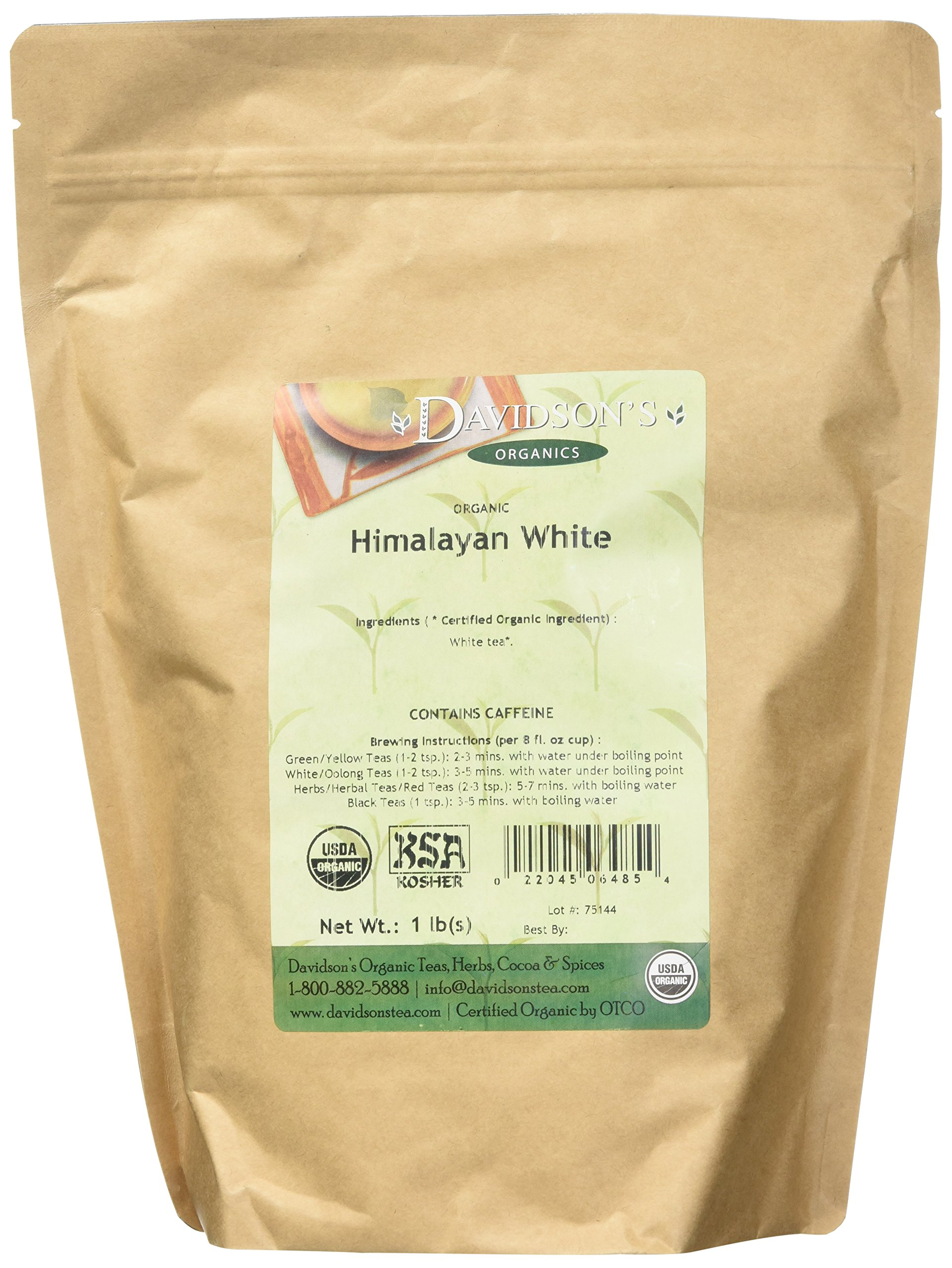 Davidson's Tea Himalayan White, Bulk Tea, 16 Ounce