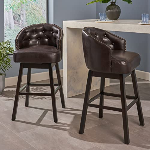 Christopher Knight Home OGDEN KD SWIVEL BARSTOOL, Brown