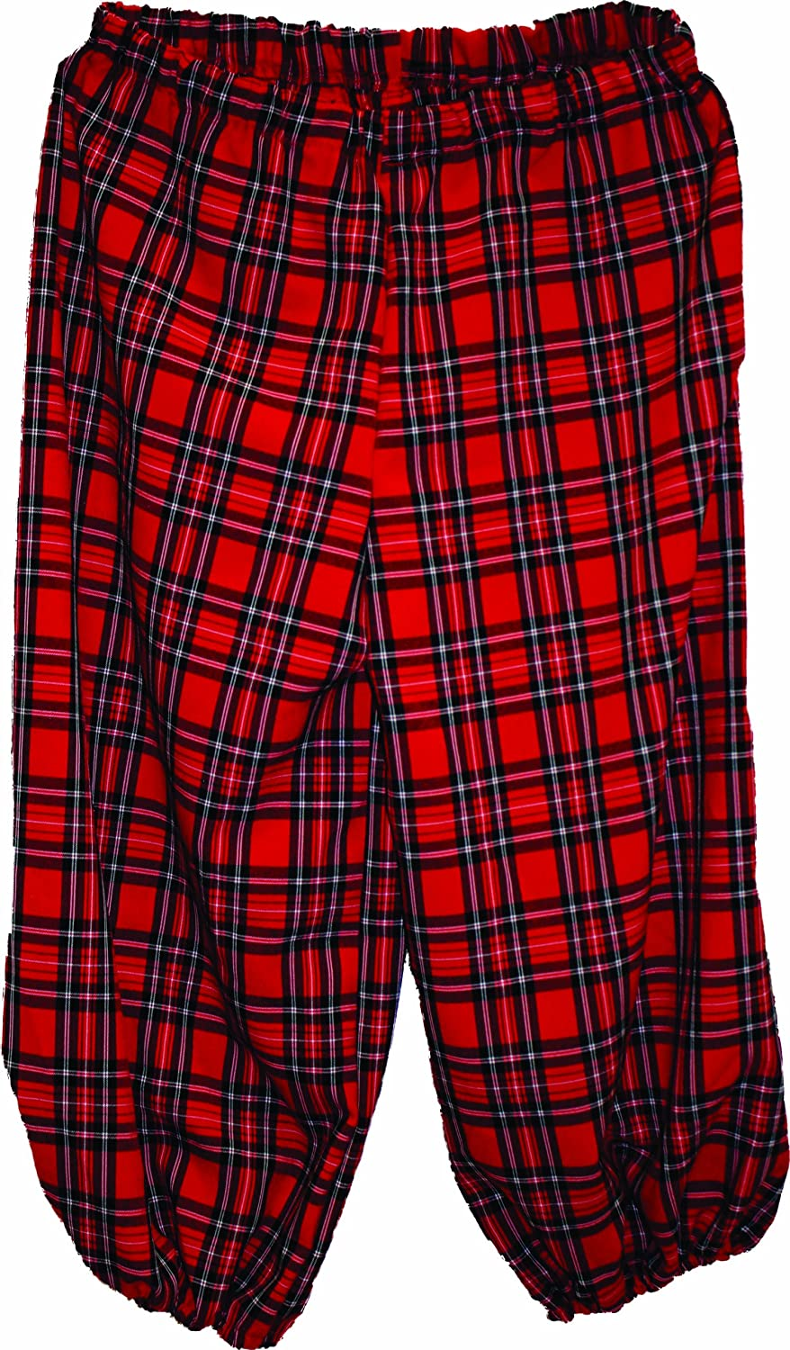 Men's red plaid pirate knickers, pirate breeches, pirate pants, pirate trousers by Alexanders Costumes