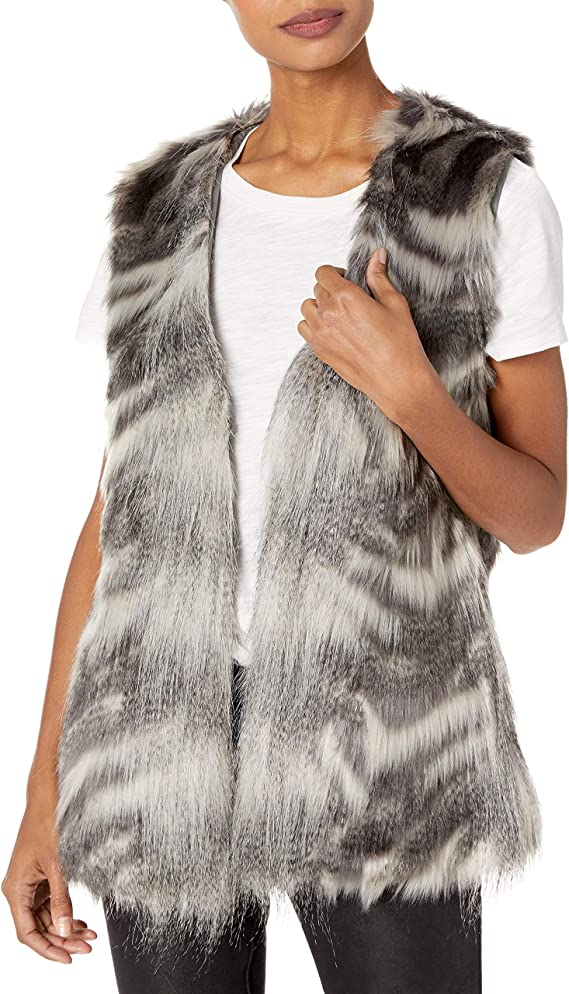 cupcakes and cashmere Womens Mirage Tie Front Duster Vest