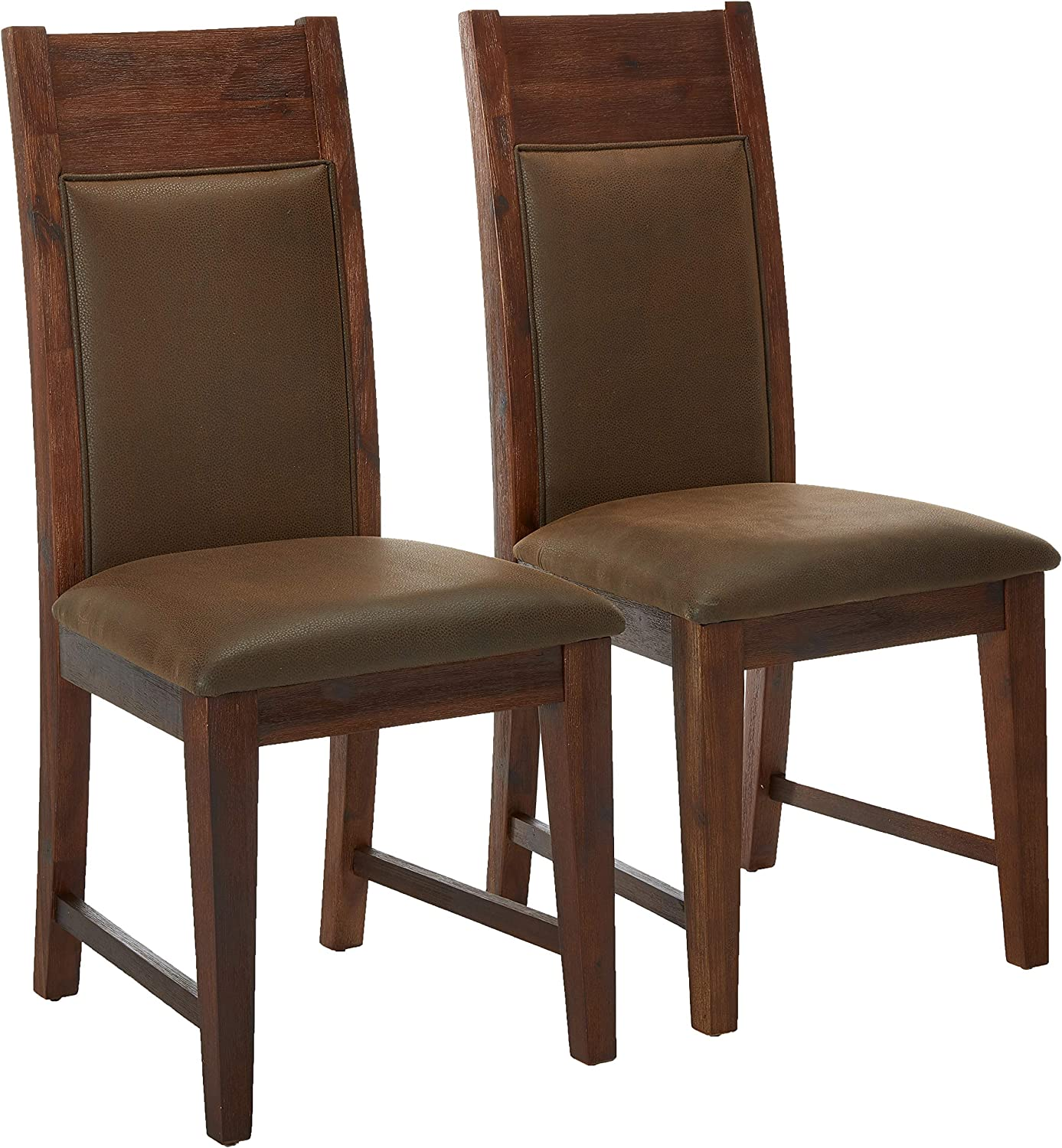 Amazon Com Alpine Furniture Pierre Dining Chair Brown Chairs