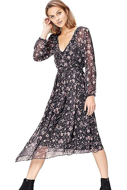 531fef2dfc find. Vestito Midi a Fiori Donna: Amazon.it: Abbigliamento