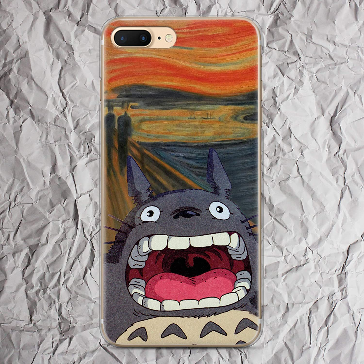 huge selection of e7fec f0407 My Neighbor Totoro Phone Case Anime for iPhone X Xs Max Xr 7 8 6 6s plus 5  5s se 5se 4 4s The Scream Edvard Munch Inspired by Studio Ghibli Collection  ...