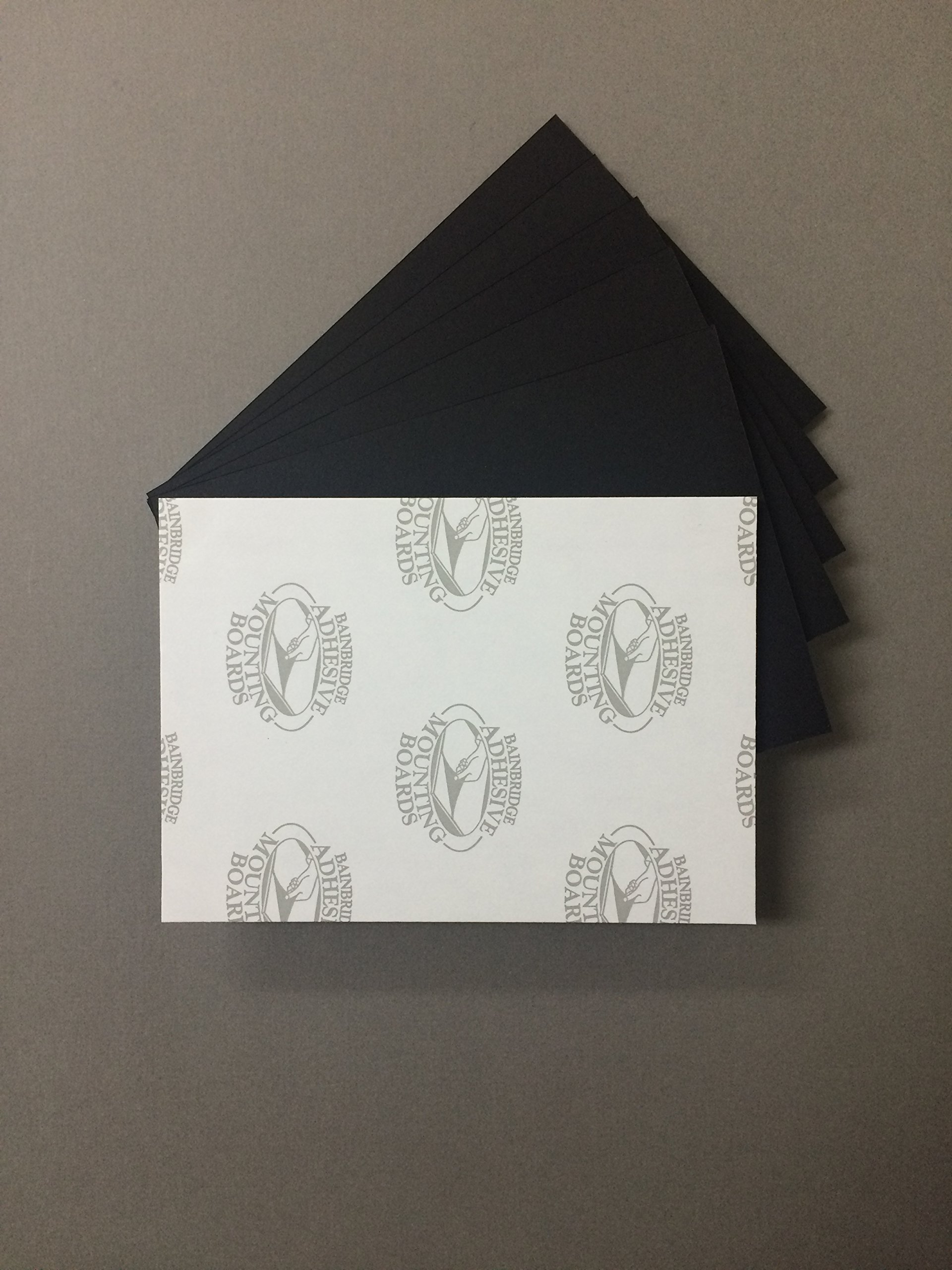 Pack of 10 8x10 3/16'' Black Self Adhesive Foam Core Backings by bux1 picture matting