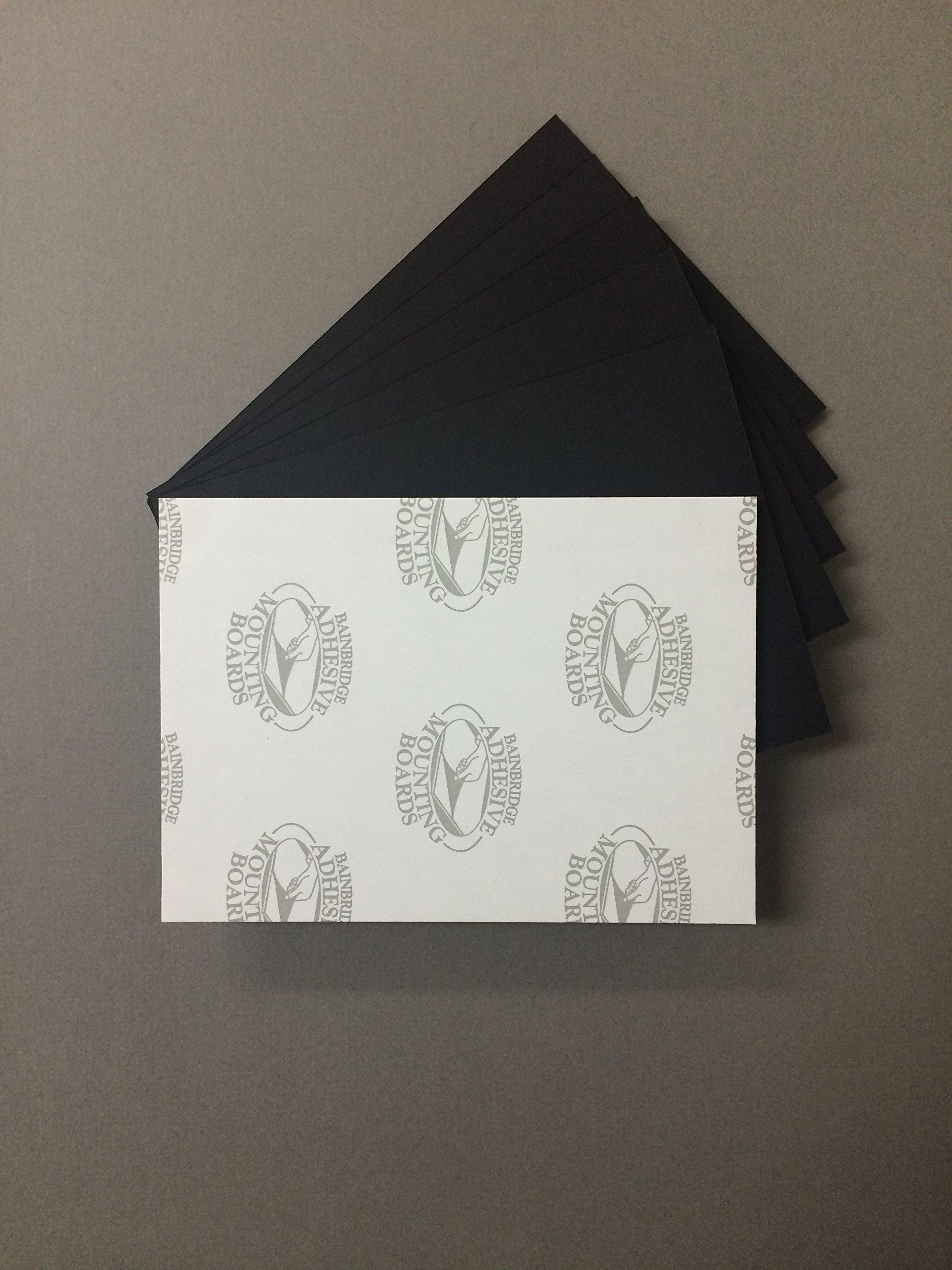 Pack of 5 11x14 3/16'' Black Self Adhesive Foam Core Backings