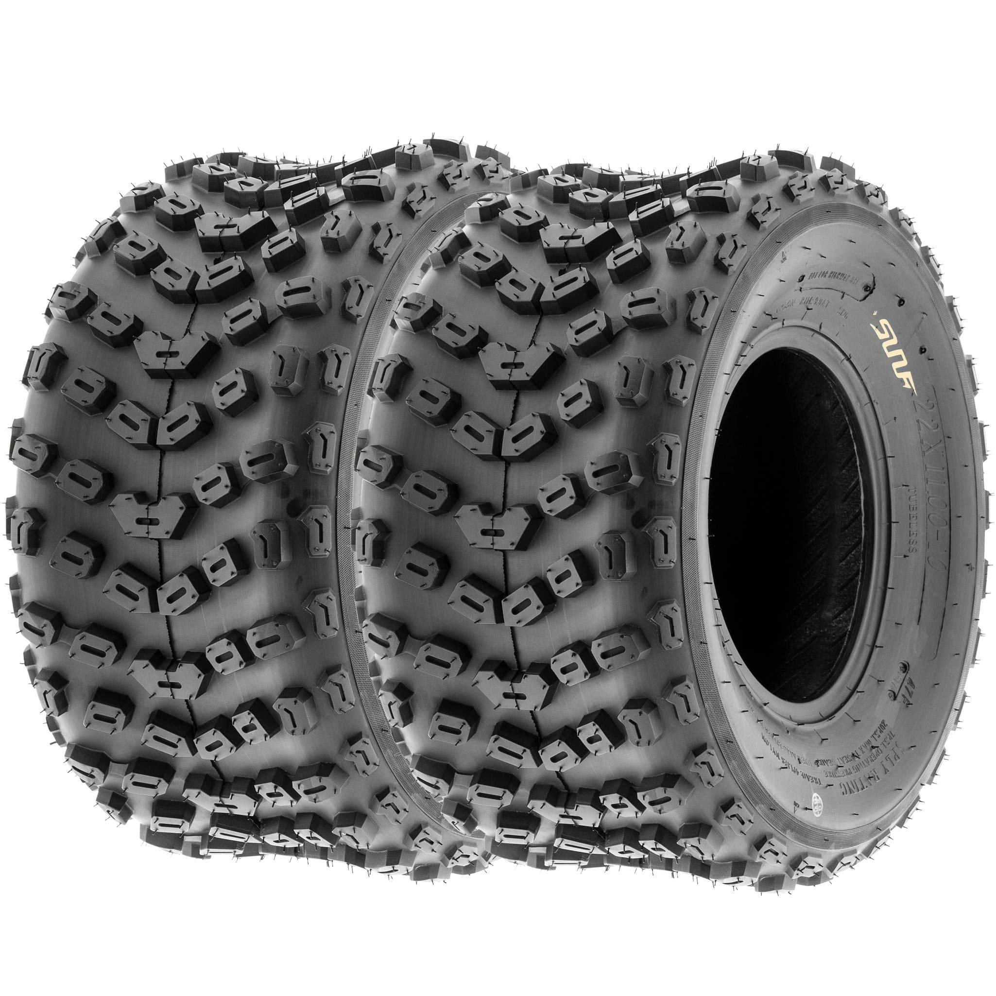 SunF ATV Dimple Knobby Sport Tires 18x10.5-9 18x10.5x9 4 PLY A005 (Set pair of 2)