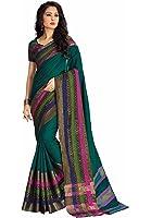 Miraan Cotton Saree (Namoaugustgreen_Green)