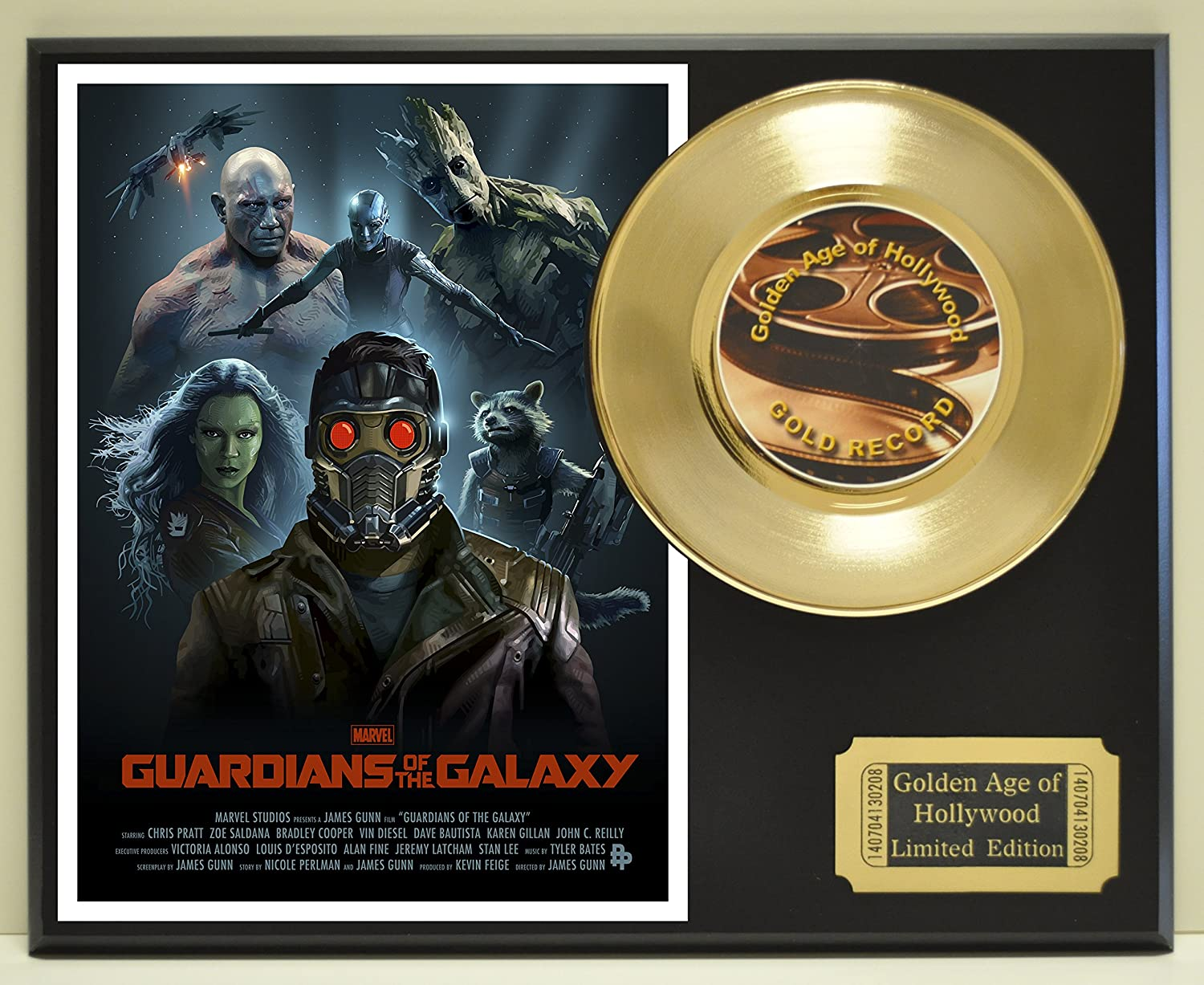 Guardians of the Galaxy Limited Edition Gold 45 Record Display. Only 500 made. Limited quanities. FREE US SHIPPING by Classic Rock Collectibles
