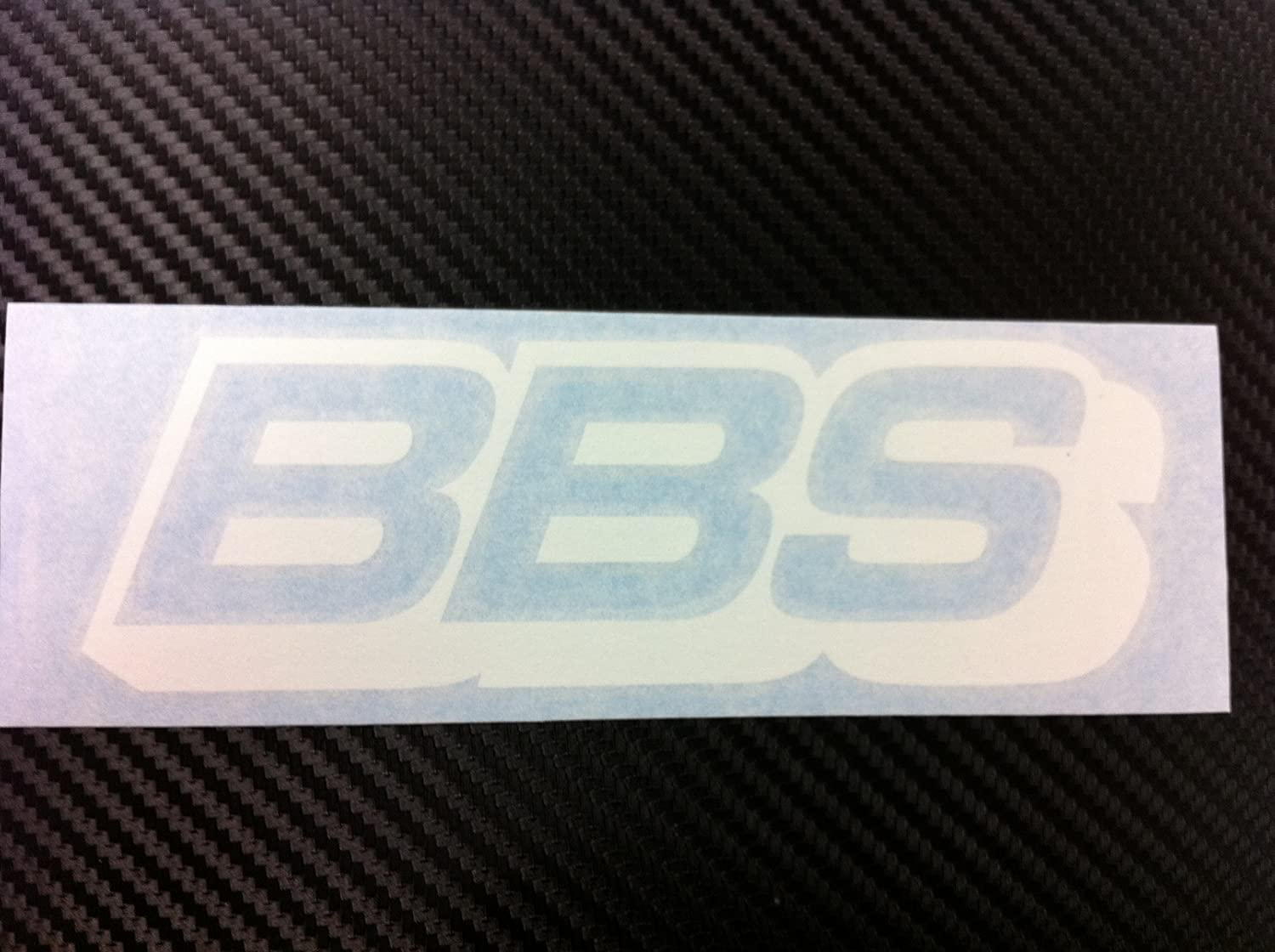 1 x BBS Racing Decal Sticker (New) white Size 6''X 2''